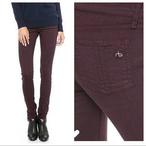 Rag & Bone wine skinny jeans 29
